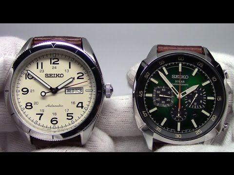 Seiko New Releases - Automatic Field and Solar Chronograph