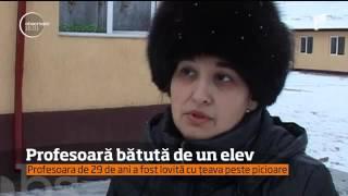 O profesoară de română din judeţul Vaslui, bătută de un elev pentru că i-a dat nota cinci la