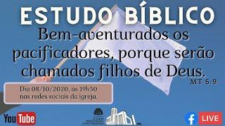 ???? Live Estudo Bíblico 08/10/2020