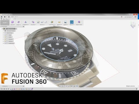 Sculpt To Solid — Watch Lug & Bezel  — Fusion 360 Tutorial — #LarsLive 132