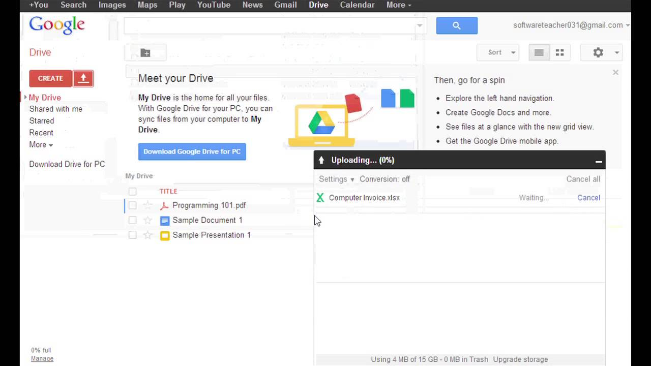 How to Import Excel Sheets to Google Docs : Google User Tips