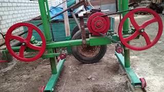 Ленточная пило рама (часть 2)   Homemade band sawmill (part 2)