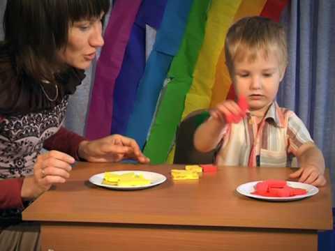Как научить ребенка цветам в 3 года видео уроки