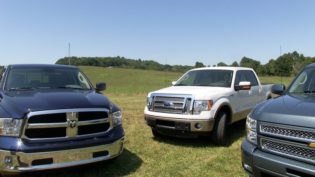 Vs Ford F  Vs Chevy Silverado   Mph Mashup Test Review Youtube