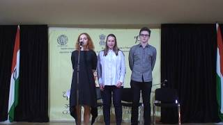 Hindi Day performance by Russian State University Hindi students in Indian embassy Moscow