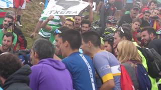 Héctor Saez Oiz Mendian / Héctor Sáez en el Monte Oiz (Vuelta España 2018 - Etapa 17)