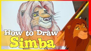 How to Draw SIMBA from Disney's THE LION KING