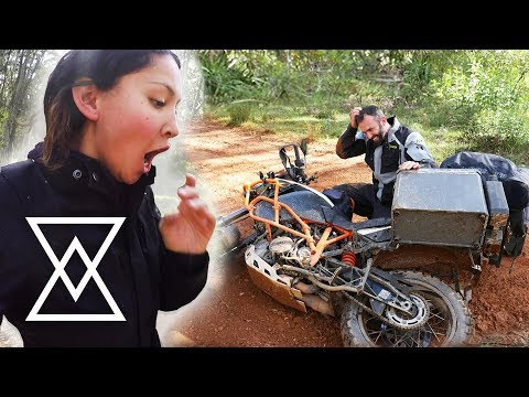 MOTORCYCLE ACCIDENT - Broken Cart Trail, Australia (2up KTM 1190 Adventure R)