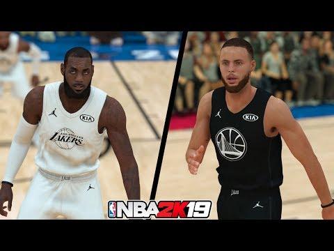 NBA 2K19   Team LeBron vs. Team Stephen  Full Gameplay