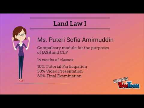 Introductory video on Land Law I