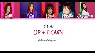 EXID - Up and Down [HAN/ROM/ENG] Color coded Lyrics