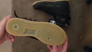 mike sneaker unboxing special field air force 1 sf af1 black gum dope material