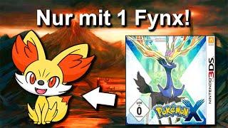 Kann man Pokemon X/Y mİt NUR einem FYNX durchspielen? (+ Keine Items in Kämpfen)