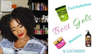 TOP 6 BEST GELS/CUSTARDS FOR NATURAL HAIR | TYPE 3 & 4 HAIR