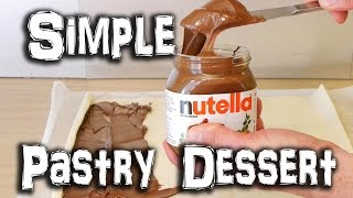 Simple Nutella Pastry Dessert