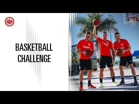 Basketball-Challenge mit Jovic,