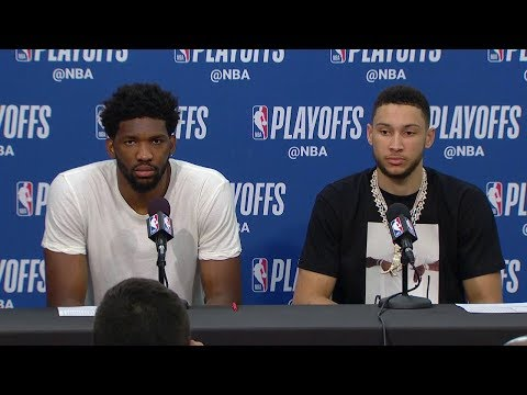 Joel Embiid & Ben Simmons Postgame Interview - Game 4 | Celtics vs Sixers | 2018 NBA Playoffs