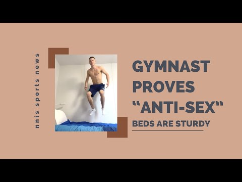 Gymnast-Proves-Anti-Sex-Beds-Are-Sturdy
