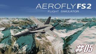 AEROFLY FS 2 Flight Simulator ★ F-18 Tiefflug in den Alpen ★ #05 FLUGSIMULATOR  [Deutsch/HD]