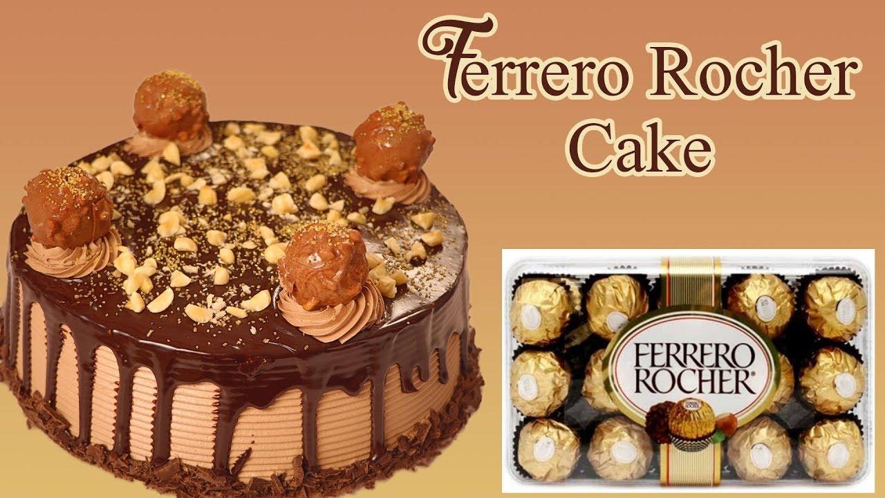 How To Make Ferrero Rocher Cake Recipe At Home Hazelnut ...