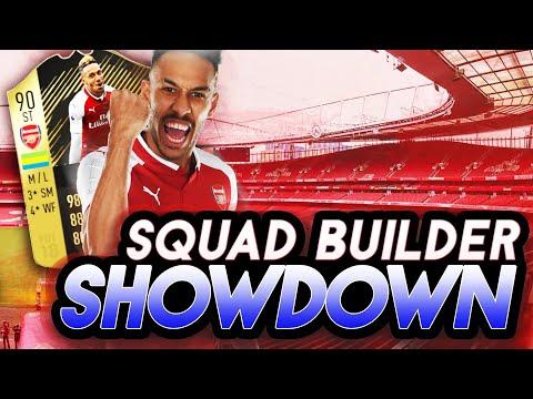 FIFA 18 SQUAD BUILDER SHOWDOWN vs AJ3 W/ 90 IF AUBAMEYANG! SBSD ULTIMATE TEAM