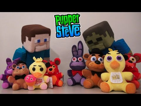 Five Nights at Freddys Plushies FUNKO REAL vs FAKE Knock Offs! Fnaf Puppet Steve