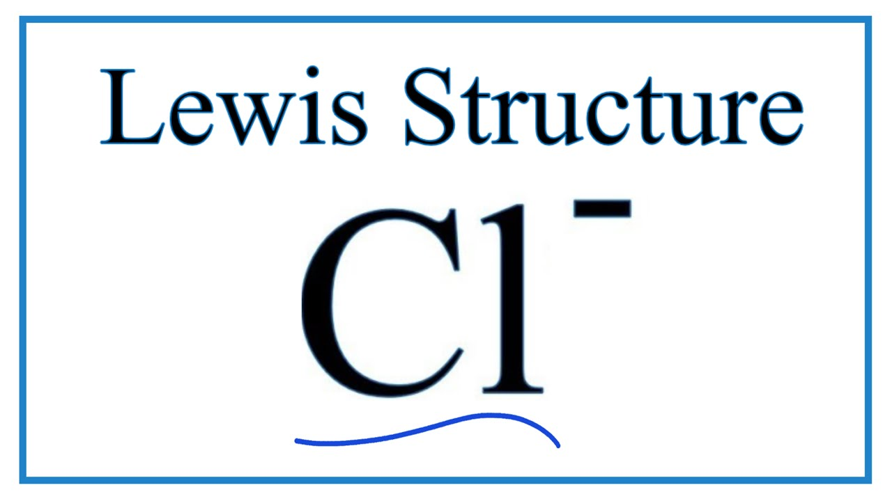 Lewis Dot Diagram For Cl