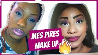 MES PIRES MAKE UP l CATASTROPHE 😅