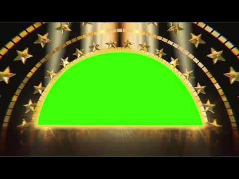 Gold Stars Green Scren Video Background Loop    DMX HD BG 257
