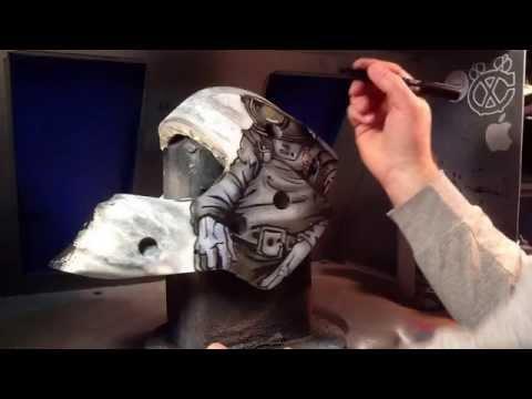 Cody goalie mask painting