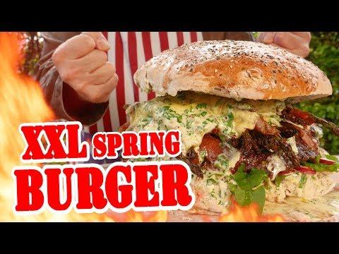 Springbreak Burger - Ein Frühlingsburger - BBQ Grill Rezept Video - Die Grillshow 291