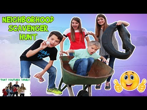 NEIGHBORHOOD SCAVENGER HUNT / That YouTub3 Family
