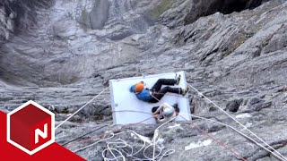 71° nord - Norges tøffeste kjendis: Fjellveggstunt