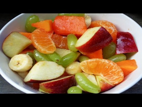 Fruit Chaat-Fresh Fruit Salad- Healthy Recipe- Lose fat with this fruit chaat recipe-SIMPLE AND EASY