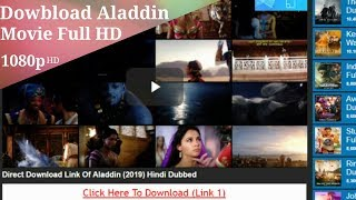 How To Download Aladdin Full HD Movie In Hindi