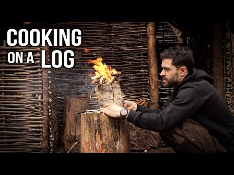 Cooking on a Log: Bushcraft Feast in Minutes