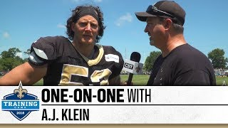 One-on-One with A.J. Klein | 2018 Saints Training Camp