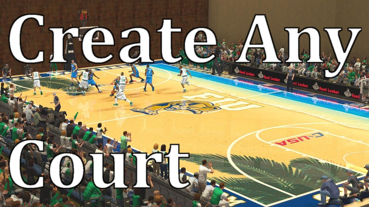 Create Any Court You Want Thanks To R4zor Nba 2k Pc Tutorial Youtube