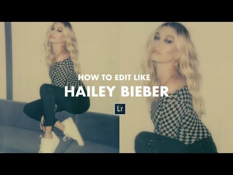 How to edit your pictures like HAILEY BIEBER polaroid tutorial