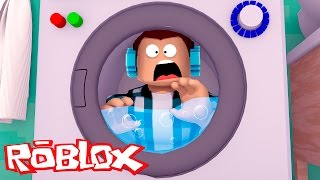 ROBLOX-TRAPPED in the LAUNDRY!!
