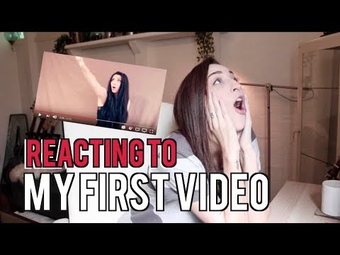 REACTING TO MY FIRST VIDEO (CRINGE)