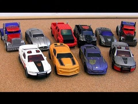 10 Transformers Cars Diecast Review Youtube