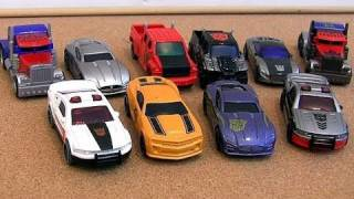 10 Transformers die-cast Cars Unboxing Review Bumblebee Ironhide Optimus Prime