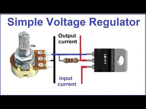 Adjustable LM317 IC Voltage Regulator Circuit With Working