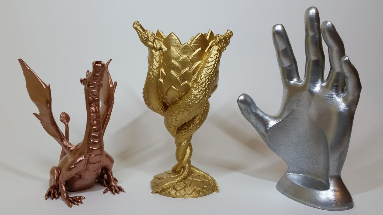 Spray Painting 3d Prints Bronze Silver Gold Colour Paint