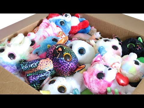 TY Beanie Boos Haul MASSIVE Mystery Box with Exclusives Unboxing Toy Review TY Beanie Boo Plush