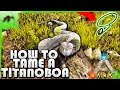 How To Tame A Titanoboa(EASY!) With A LASSO- Ark Survival Evolved Xbox One- Kamz25