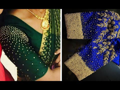 Latest Bead Work Blouse Designs For Party Wear Saree | beadwork in blouse hand | beadwork in blouse