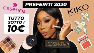 PREFERITI 2020 SOTTO I 10€ | 💶 FULL FACE LOW COST | MAKEUP PER PELLE SCURA