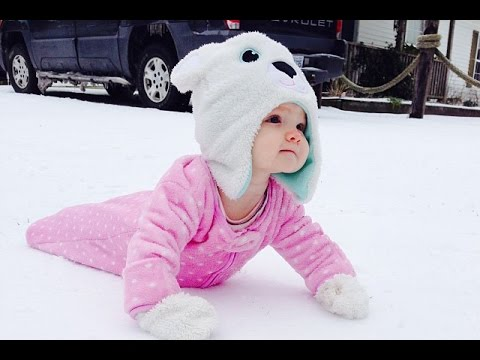 Cute Babies Playing in the Snow First Time Compilation 2015 [NEW HD VIDEO]
